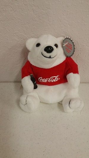 COCA-COLA BEAR Mini Beanie Plushie
