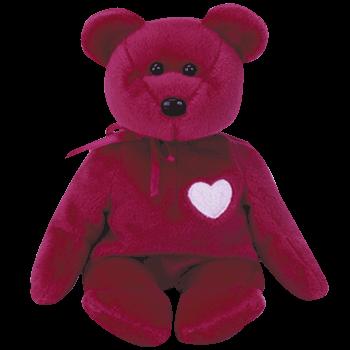 VALENTINA the VALENTINE Bear Beanie Baby - Ty
