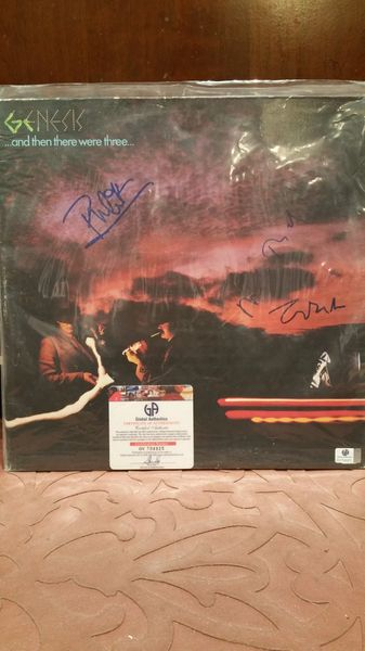 Genesis **...AND THEN THERE WERE THREE...** Signed & Certified LP Cover with vinyl record - GV704925 - signed by: Phil Collins, Tony Banks, Mike Rutherford