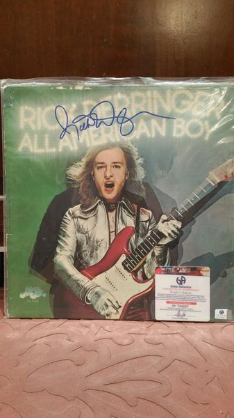 Rick Derringer **ALL AMERICAN BOY** Signed & Certified LP Cover with vinyl record - GV704907