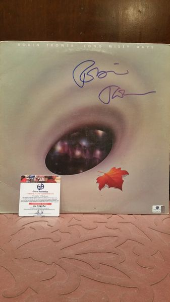 Robin Trower **LONG MISTY DAYS** Signed & Certified LP Cover with vinyl record - GV704874
