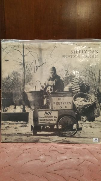 Steely Dan **PRETZEL LOGIC** Signed & Certified LP Cover with vinyl record - GV704486 - signed by: Donald Fagen, Walter Becker