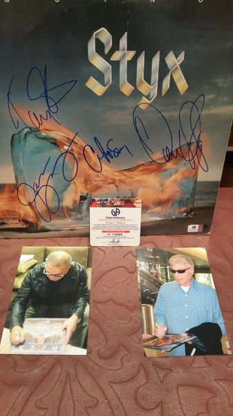 Styx **EQUINOX** Signed & Certified LP Cover with vinyl record - GV704866 - signed by: Tommy Shaw, Dennis DeYoung, Chuck Panozzo, James Young