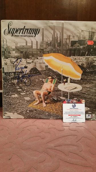 Supertramp **CRISIS? WHAT CRISIS?** Signed & Certified LP Cover with vinyl record - GV704872 - signed by: Roger Hodgson