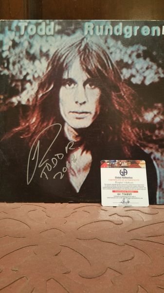 Todd Rundgren **HERMIT OF MINK HOLLOW** Signed & Certified LP Cover (COVER ONLY, NO RECORD) - GV704893