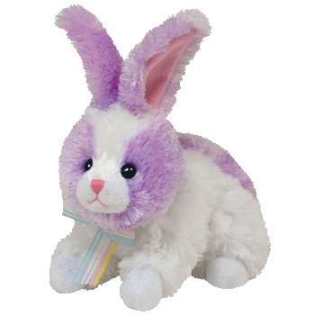 SHERBET the BUNNY (Lilac & White) Beanie Baby - Ty