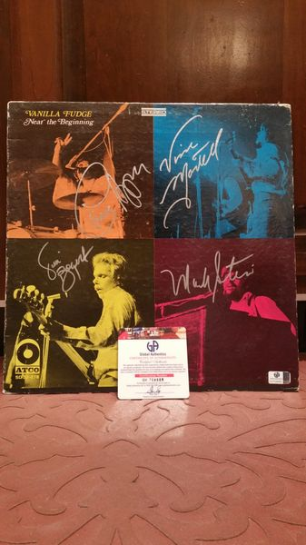 Vanilla Fudge **NEAR THE BEGINNING** Signed & Certified LP Cover with vinyl record - GV704888 - signed by: Mark Stein, Vince Martell, Carmine Appice, Tim Bogert