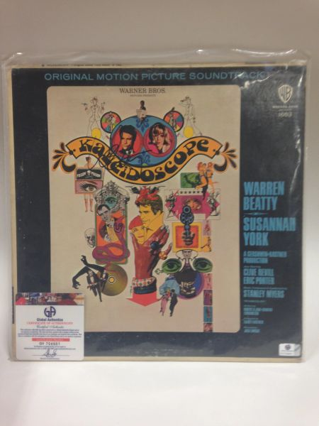 KALEIDOSCOPE **Original Motion Picture Soundtrack** Signed & Certified LP Cover with vinyl record - GV704901 - signed by: Warren Beatty