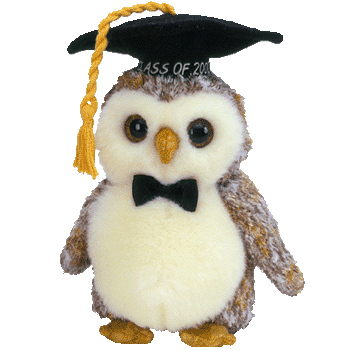 "SMARTER the OWL ""CLASS OF 2002"" Beanie Baby - Ty"