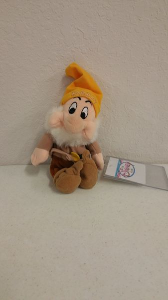 SNEEZY (Snow White & the Seven Dwarfs) Mini Bean Bag - Disney