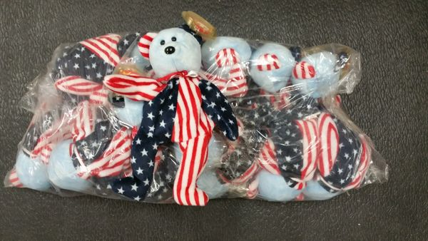 SPANGLE the Red, White & Blue Bear Beanie Baby - Ty
