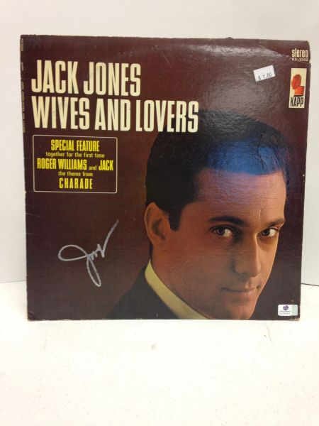 Jack Jones **WIVES AND LOVERS** Signed & Certified LP Cover with vinyl record - GV704351