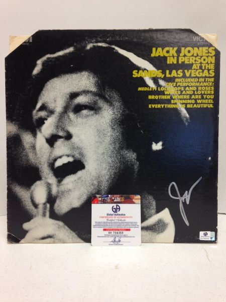 Jack Jones **IN PERSON AT THE SANDS, LAS VEGAS** Signed & Certified LP COVER ONLY, no record - GV704350