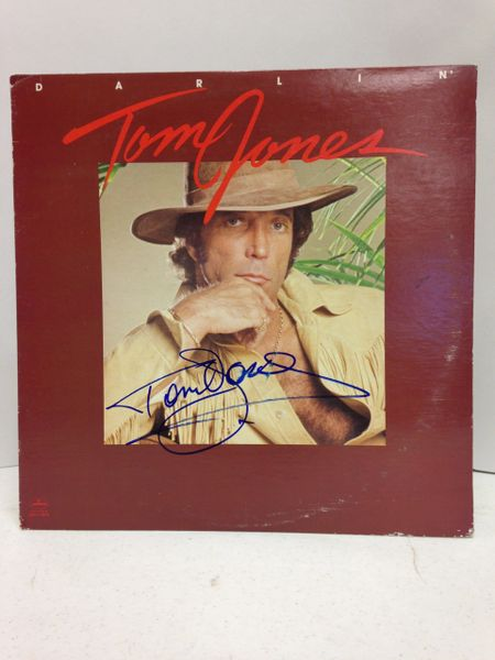 Tom Jones **DARLIN'** Signed & Certified LP cover with vinyl record - GV529185