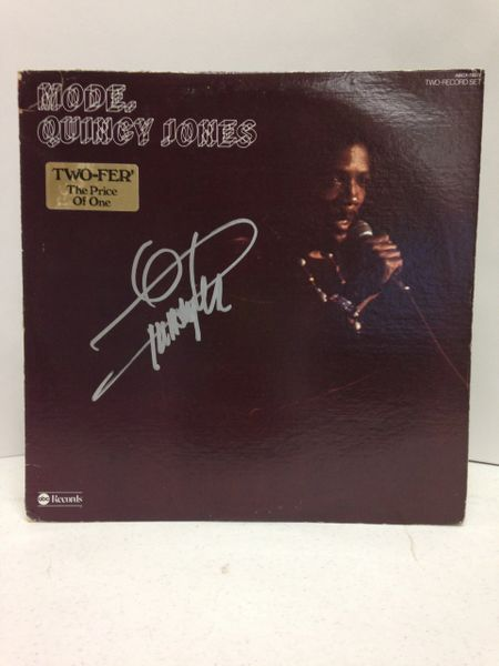 Quincy Jones **MODE** Two-Record Set, Signed & Certified LP cover with vinyl records - GV586098