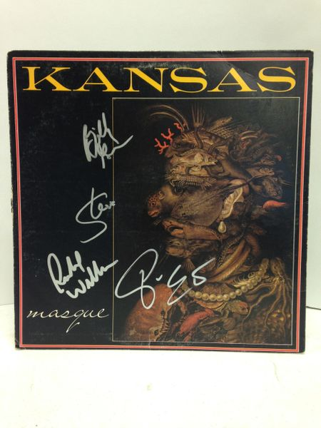 Kansas **MASQUE** Signed & Certified LP cover with vinyl record - GV562515 - signed by: Steve Walsh, Phil Ehart, Billy Greer, Rich Williams