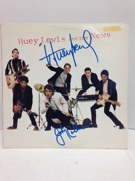 Huey Lewis and the News **HUEY LEWIS and the NEWS** Signed & Certified LP Cover with vinyl record - GV562368 - signed by: Huey Lewis, Johnny Colla