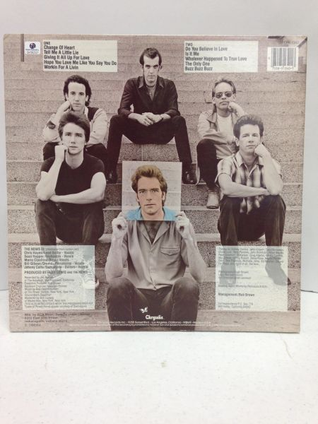 Huey Lewis and the News **PICTURE THIS** Signed & Certified LP Cover with vinyl record - GV562521 - signed by: Huey Lewis