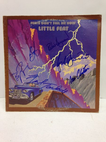 Little Feat **FEATS DON'T FAIL ME NOW** Signed & Certified LP Cover with vinyl record - GV562798 - signed by: Bill Payne, Paul Barrere, Kenny Gradney, Fred Tackett, Richie Hayward, Sam Clayton