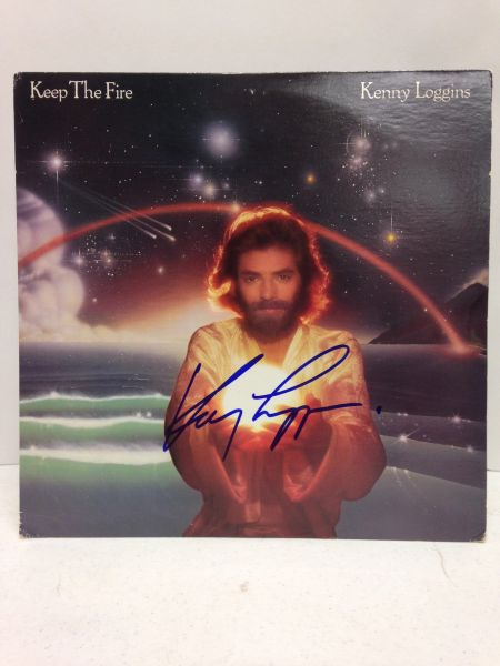 Kenny Loggins **KEEP THE FIRE** Signed & Certified LP Cover with vinyl record - GV586166