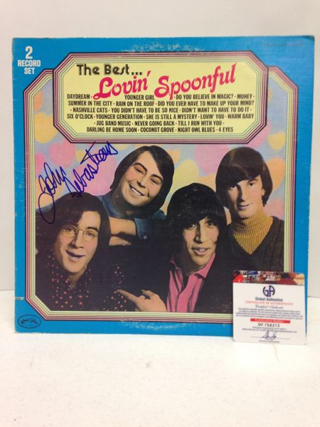 The Lovin' Spoonful **THE BEST...** Signed & Certified LP Cover with vinyl records (TWO RECORD SET) - GV704313 - signed by: John Sebastian