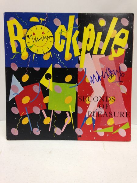 Rockpile **SECONDS OF PLEASURE** Signed & Certified LP Cover with vinyl record - GV580312 - signed by: Nick Lowe