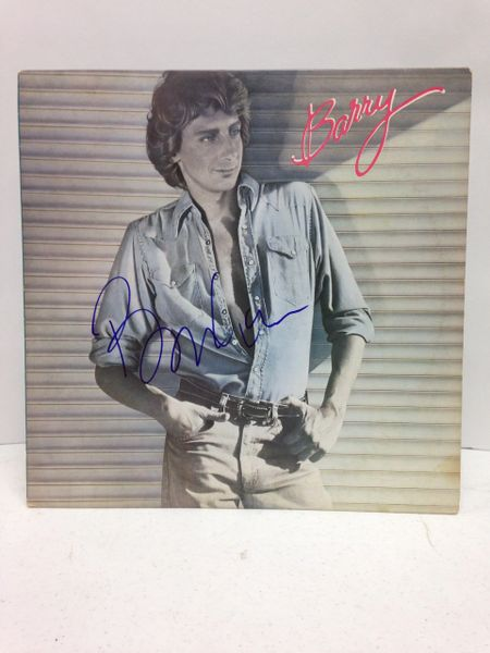 Barry Manilow **BARRY** Signed & Certified LP Cover with vinyl record - GV562383