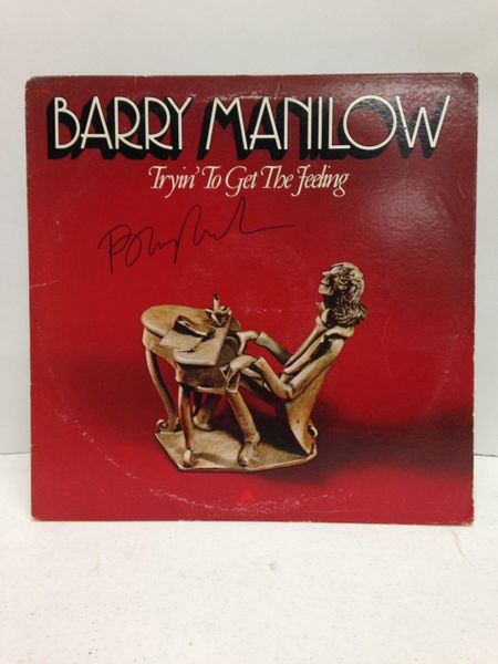 Barry Manilow **TRYIN' TO GET THE FEELING** Signed & Certified LP Cover with vinyl record - GV562573