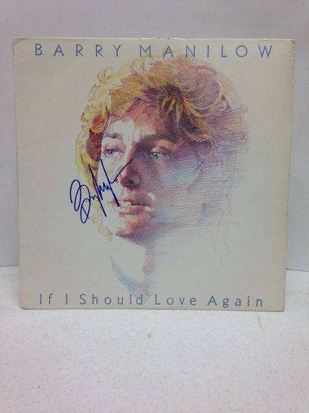 Barry Manilow **IF I SHOULD LOVE AGAIN** Signed & Certified LP Cover with vinyl record - GV562371