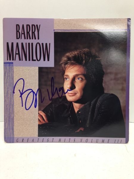 Barry Manilow **GREATEST HITS VOLUME III** Signed & Certified LP Cover with vinyl record - GV562384