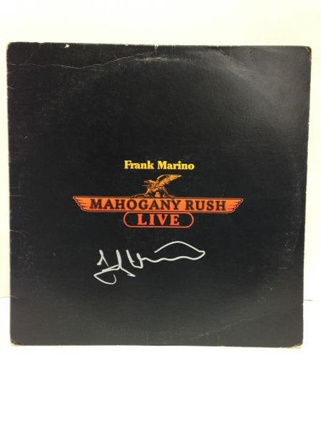 Frank Marino & Mahogany Rush **MAHOGANY RUSH LIVE** Signed & Certified LP Cover with vinyl record - GV586116 - signed by: Frank Marino