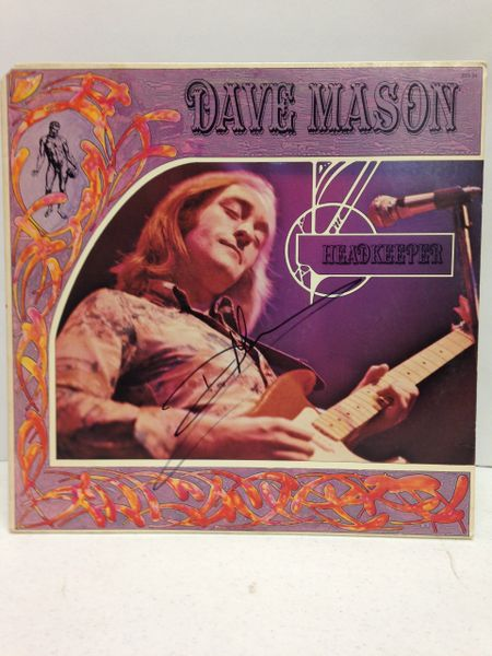 Dave Mason **HEADKEEPER** Signed & Certified LP Cover with vinyl record - GV529227