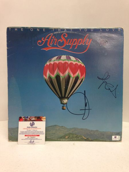 Air Supply **THE ONE THAT YOU LOVE** Signed & Certified LP Cover with vinyl record - signed by: Graham Russell, Russell Hitchcock - GA (Global Authentics) Certification # GV704331