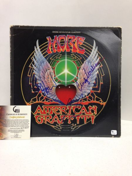 American Graffiti Original Motion Picture Soundtrack **MORE AMERICAN GRAFFITI** 2-Record Set - Signed & Certified LP Cover with vinyl records - GV510017 - signed by: Ron Howard, Cindy Williams
