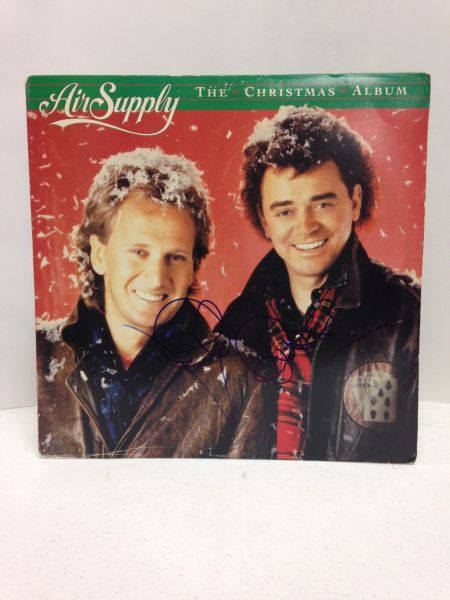 Air Supply **THE CHRISTMAS ALBUM** Signed & Certified LP Cover with vinyl record - signed by: Graham Russell, Russell Hitchcock - GA (Global Authentics) Certification # GV562791