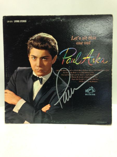 Paul Anka **LET'S SIT THIS ONE OUT** Signed & Certified LP cover with vinyl record - GV591207