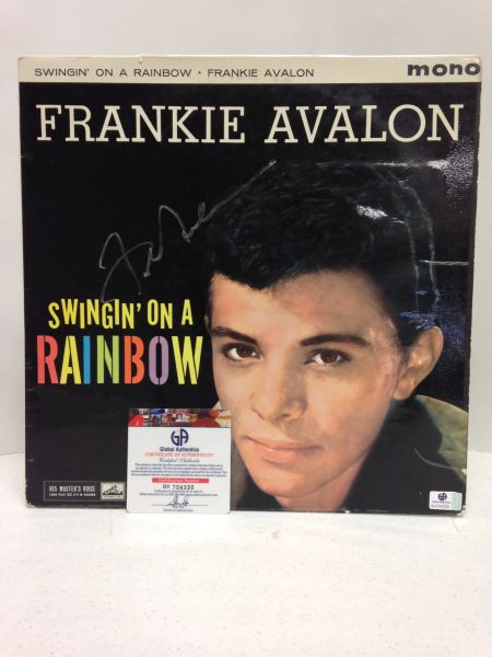 Frankie Avalon **SWINGIN' ON A RAINBOW** Signed & Certified LP cover with vinyl record - GV704330
