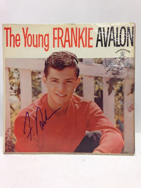 Frankie Avalon **THE YOUNG FRANKIE AVALON** Signed & Certified LP cover with vinyl record - GV591173
