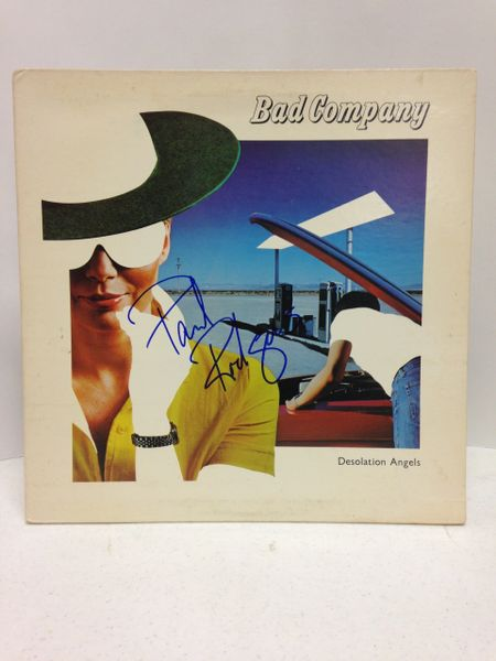 Bad Company **DESOLATION ANGELS** Signed & Certified LP cover with vinyl record - GV591209 - signed by: Paul Rodgers