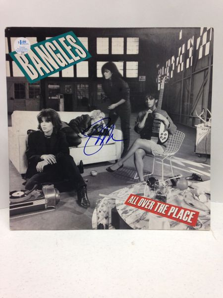 The Bangles **ALL OVER THE PLACE** Signed & Certified LP cover with vinyl record - GV529223 - signed by: Susanna Hoffs