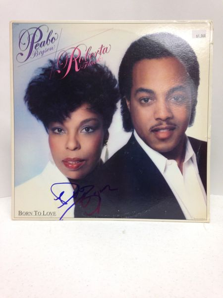 Peabo Bryson / Roberta Flack **BORN TO LOVE** Signed & Certified LP cover with vinyl record - GV513724