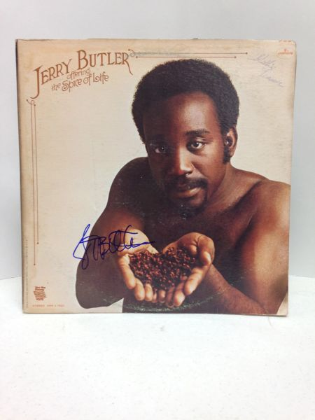 Jerry Butler **OFFERING THE SPICE OF LIFE** 2 Record Set - Signed & Certified LP cover with vinyl records - GV519233