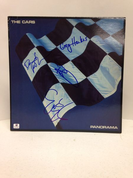 The Cars **PANORAMA** Signed & Certified LP cover with vinyl record - GV630862 - signed by: Ric Ocasek, Elliot Easton, Greg Hawkes, David Robinson