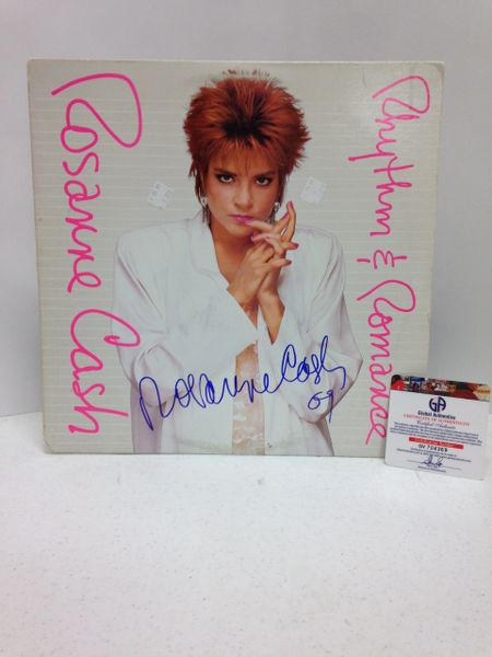 Rosanne Cash **RHYTHM & ROMANCE** Signed & Certified LP Cover with vinyl record - GV704369