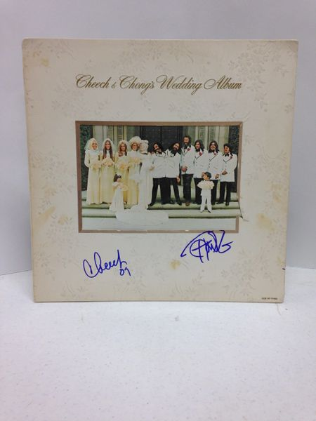 Cheech & Chong **CHEECH & CHONG'S WEDDING ALBUM** Signed & Certified LP Cover with vinyl record - GV513731 - signed by: Cheech & Chong