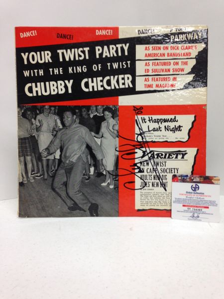 Chubby Checker **YOUR TWIST PARTY WITH THE KING OF TWIST** Signed & Certified LP Cover with vinyl record - GV704360