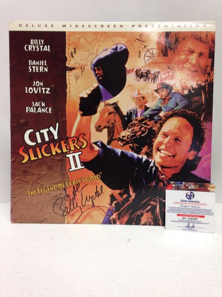 City Slickers II **THE LEGEND OF CURLY'S GOLD** Deluxe Widescreen Presentation - Signed & Certified Cover with LASER DISC - GV704905 - signed by: Billy Crystal
