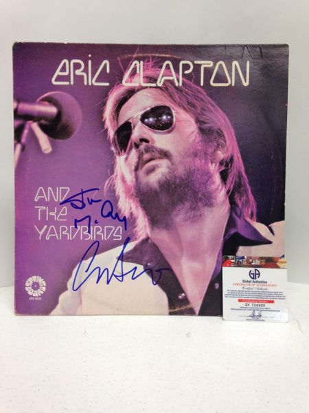 Eric Clapton **ERIC CLAPTON AND THE YARD BIRDS** Signed & Certified LP Cover with vinyl record - GV704900 signed by: Chris Dreja & Jim McCarty (The Yardbirds)