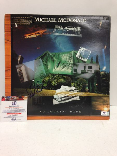 Michael McDonald **NO LOOKIN' BACK** Signed & Certified LP Cover with vinyl record - GV704382