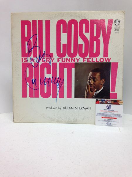 Bill Cosby **BILL COSBY IS A VERY FUNNY FELLOW, RIGHT!** Signed & Certified LP cover with vinyl record - GV704355